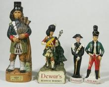 Two Whisky Decanters, a Galliano Decanter & a Dewar''s Whisky Figure [4],