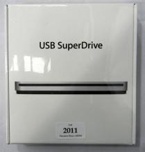 An Apple USB superdrive in sealed box