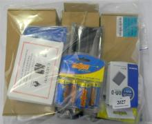 A bag of assorted laptop & other batteries