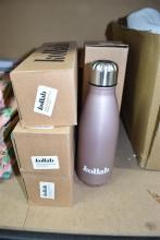 Four Kollab water bottles/vacuum flask assorted colours