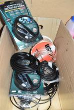 A box of assorted AV, leads & cables incl. HDMI etc