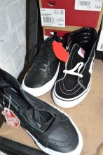 Three pairs casual shoes marked Vans sizes womens US 5.5