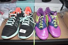 A pair of sports & football boots marked Asics & adidas size 40.5 & 41 [worn]