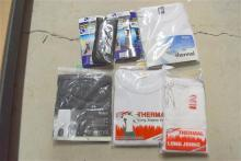 A bag of assorted thermal wear