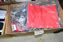 A box of packaged ladies clothes