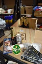 The Man Crate incl. Crownies, beer taps, bottle openers & face mats  etc
