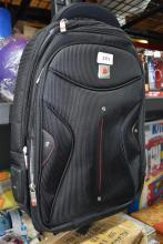 A travel backpack marked Polo Classic