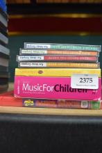 A collection of music for children plus Wiggles DVD