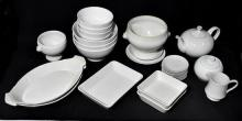 A Collection Of White Dinnerware,