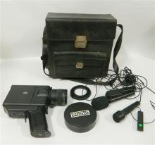 A Super 8 Movie Camera with Bag & Accessories
