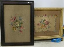 Two framed tapestries