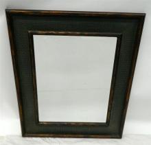 A Rectangular Bevelled Mirror with an Interesting Leather-check Border