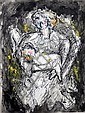 Gines Parra (1896-1960) Attributed Spanish Mother & Child 1944 Ink & gouache on paper, Ginés Parra, Click for value