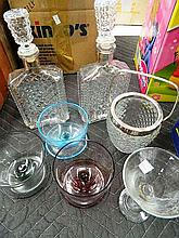 A Quantity of Glassware including Decanters and Cocktail Glasses