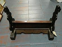 A Chinese Hardwood Table Screen Stand