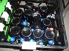 Crate lot of assorted Coca Cola and Zero