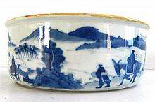 A Chinese Porcelain Blue and White Brush Washer