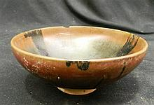 A Chinese Black Glazed Sung Style Tea Bowl