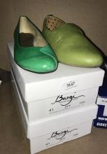 Two pairs hand made shoes marked Bangi, both size 41, with boxes