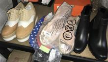 Five assorted pairs of ladies shoes, boots & slippers, various sizes
