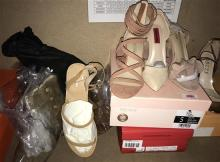 Six pairs ladies shoes, assorted sizes, some with boxes