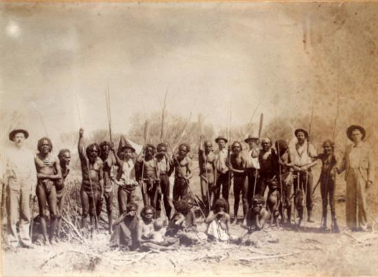 A 19th Century Photograph of a Group of Western Australian Aboriginals,