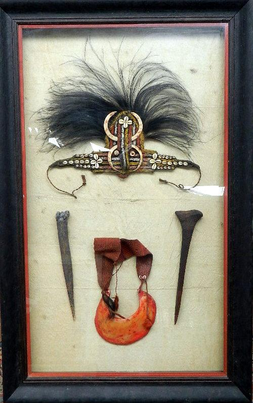 A Framed Set of New Guinea Artefacts,