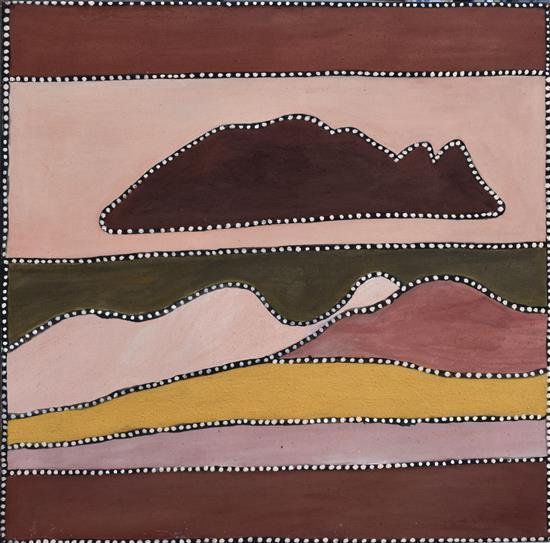 Beerbee Mungnari 2003 Red Butte Country (Texas Downs) natural earth pigments on canvas