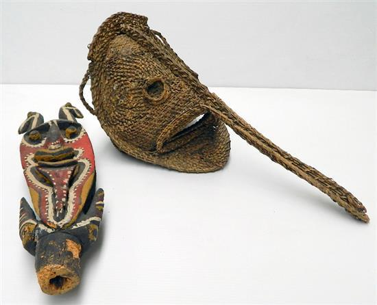 Kwoma Figure and Blackwater River Mask (2),
