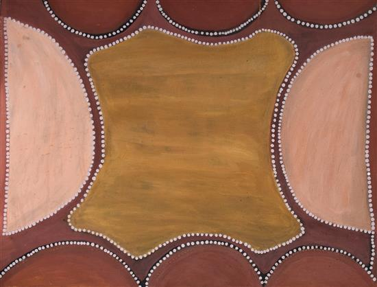 Henry Wambini Jawalyi 1994 Tickelarra Mabel downs natural earth pigments on canvas