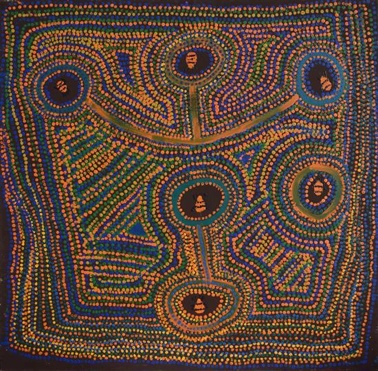 Mick Wikilyiri 2005 Ngayuku Nguru (My Country) synthetic polymer paint on Belgian Linen