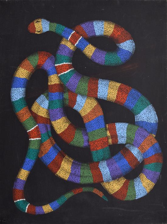 Allan Mansel 1999 The Rainbow Serpent synthetic polymer paint on canvas