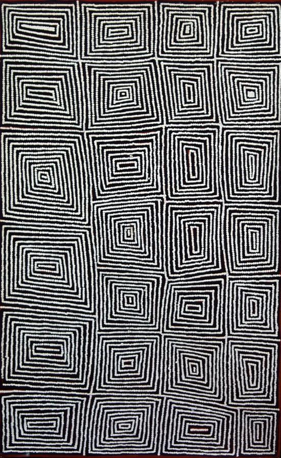 Warlimpirrnga Tjapaltjarri 2004 Tingari synthetic polymer paint on canvas