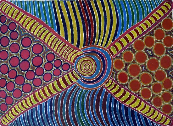 Anna Price 1995 Women's Bush Tucker Dreaming synthetic polymer paint on canvas