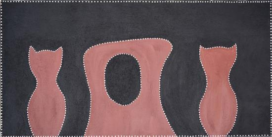 Charlene Carrington 2003 Thidaguny (Birdrock Dreaming) natural earth pigments on canvas