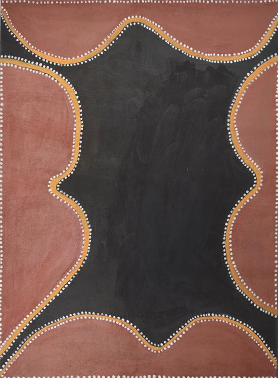 Henry Wambiny 1999 Balaji (Bellpin Creek) natural earth pigments on canvas