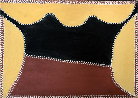 Henry Wambini Jawalyi 1997 Mungadabun natural earth pigments on canvas