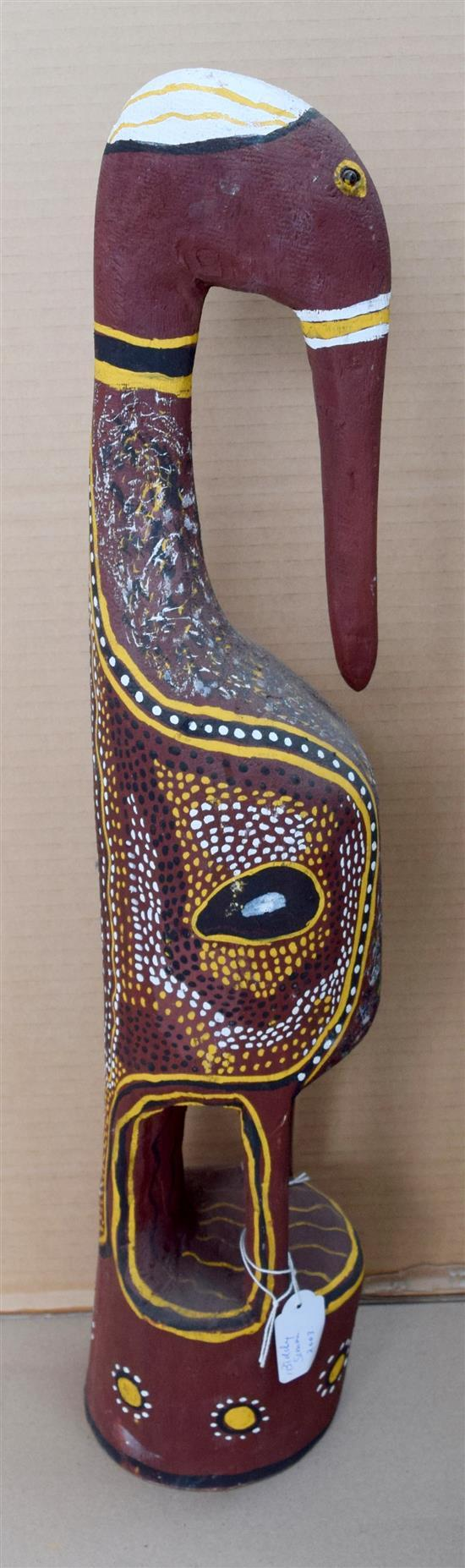 Biddy Simon 2003 Jabaroo natural earth pigments on carved wood