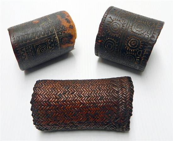 Three New Guinea Arm Bands (3),