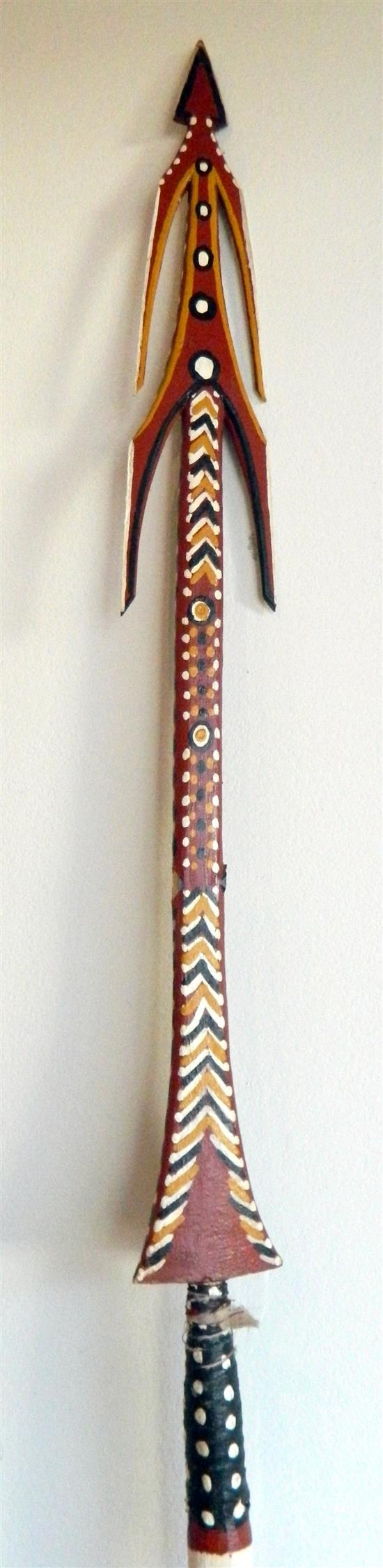Artist Unknown Spears carved wood