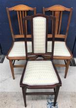 A Matched Pair of Sidechairs Plus Another