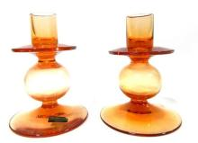 A Pair of Wedgwood Glass Candlesticks,