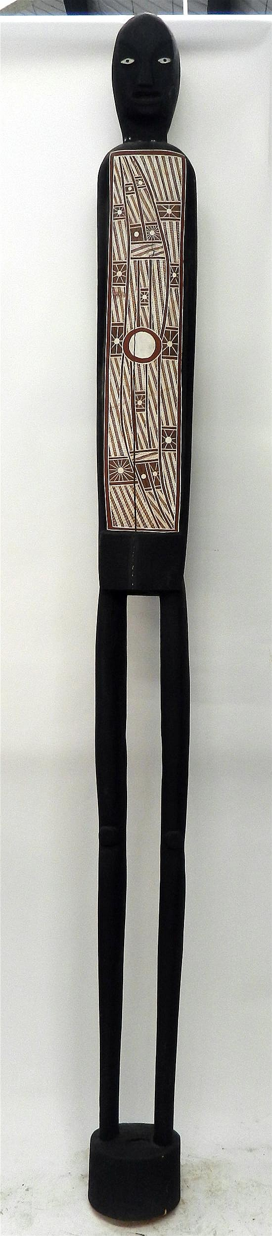 Jimmy Angununa, Born Circa 1935 Maningrida North East Arnhemland Wangara Spirit 1999 Earth pigments on timber