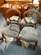 A Set Of Four Victorian Balloon Back Dining Chairs, Mahogany, English