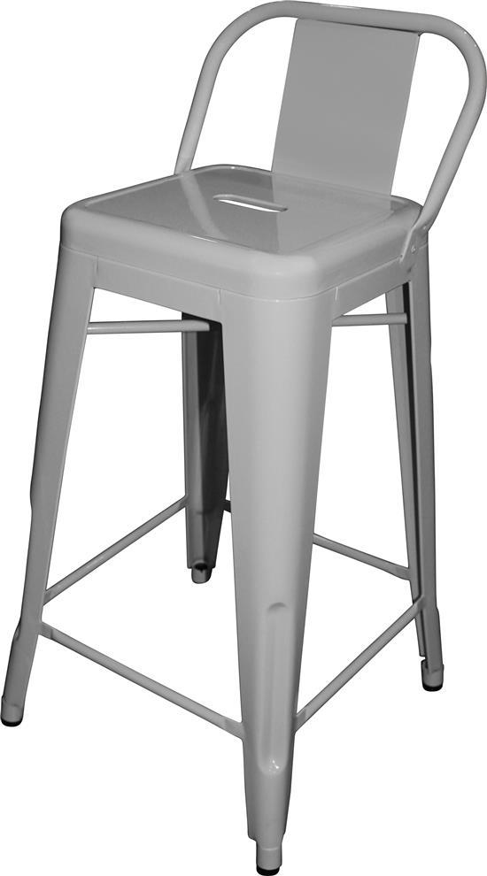 A replica xavier pauchard tolix bar stool with low back in w - Tolix low back bar stool ...