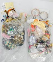 Two Bags of Misc. Costume Jewellery