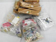 Three Bags of Jewellery Making Components, plus Bag of Jewellery Boxes & Bags