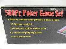 A 500Pc Poker Game Set