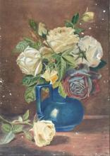 TF Collier (Early 20th Century) Still Life Roses Watercolour