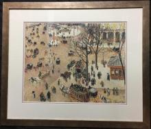 Camille Pisarro, La Place du Theatre Francais + Grace Cossington Smith, Trees 1926, offset prints/posters framed (2)